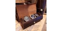 Étui  de rangement en cuir pour montres